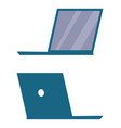 modern open laptop back and side view icon vector image