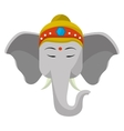 Sacred elephant india vector image