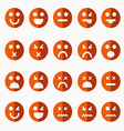 Set of different emoticons vector image