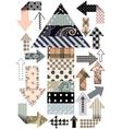 Set of patchwork arrows vector image