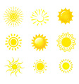 Sun icons vector image