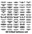 60 tribal tattoo set vector image