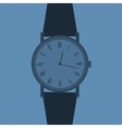 Classic Analog Mens Wrist Watch vector image