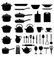 set of kitchen utensils vector image