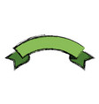 green ribbon banner decoration celebration icon vector image