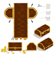 Treasure Chest Packaging Box Design vector image vector image