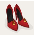 Classic leather shoes vector image