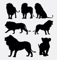 Lion wild animal silhouette vector image