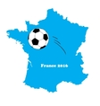 france map with football ball vector image