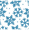 Blue snowflakes pattern seamless Stamp textured vector image