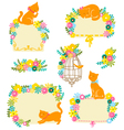 cats and flowers vector image
