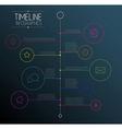 Dark infographic timeline report template vector image