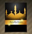 eid festival template vector image