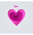 Happy Valentines day pink heart vector image