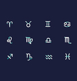 icons of the zodiac signs vector image