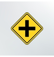 Intersection ahead road icon vector image