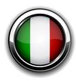 Italian flag button vector image