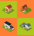 residential building for city and village poster vector image