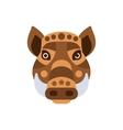 Wart Hog African Animals Stylized Geometric Head vector image