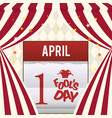 april fools day calendar design vector image