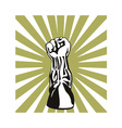 Clenched Fist Up vector image