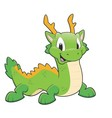 Green Chinese Dragon vector image