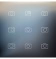 contour icons cameras vector image