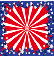American flag stylized vector image
