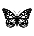 Butterfly in Black and White vector image