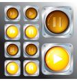 control buttons vector image