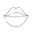 dotted shape female fashion lips style vector image