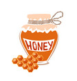jar of honey vector image