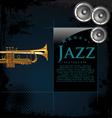 Jazz background poster vector image
