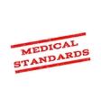 Medical Standards Watermark Stamp vector image