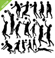 Men beach volleyball silhouettes vector image