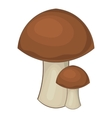 Mushroom icon cartoon style vector image