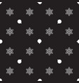 pattern with christmas balls and snowflakes on a vector image