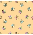 seamless baby pattern yellow vector image