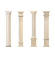 set of classic wood columns vector image