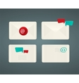 Set of paper Email envelopes vector image
