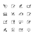 Simple Writing icons vector image