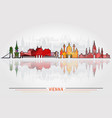 vienna city background vector image