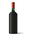 Wine bottle on white background vector