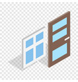 door and window isometric icon vector image