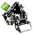 bmx cyclist template vector image