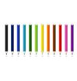 12 color pencil vector image