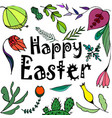 a happy easter greeting card with vector image