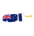 brush stroke with australia national flag isolated vector image