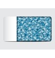 gift card with blue sequins background vector image