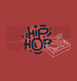 hip hop design with a turntable drawing and an vector image
